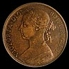 Penny 1890 Low 90 in date, Gouby BP1890Aa VF, slabbed and graded LCGS 50, this rare type usually only seen in low grade, this the only example thus far recorded by the LCGS Population Report