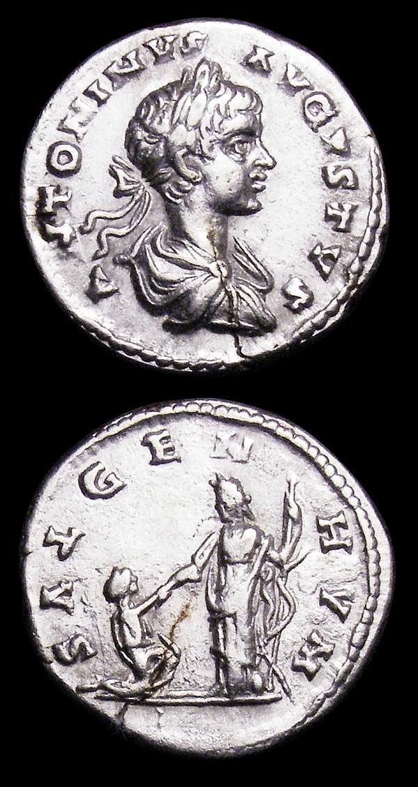 Denarius (2) Septimus Severus (193-211AD) NVF with a small edge crack, Caracalla (209-217AD) Good Fine with a long edge crack