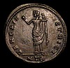 Galeria Valeria.  Ae Follis.  Heraclea mint.  C, 293-311 AD.  Rev;   VENERI VICTRICI; Venus standing left, holding an apple and drawing-up robe; HTB in ex.  RIC 43.  6.6g.  NVF