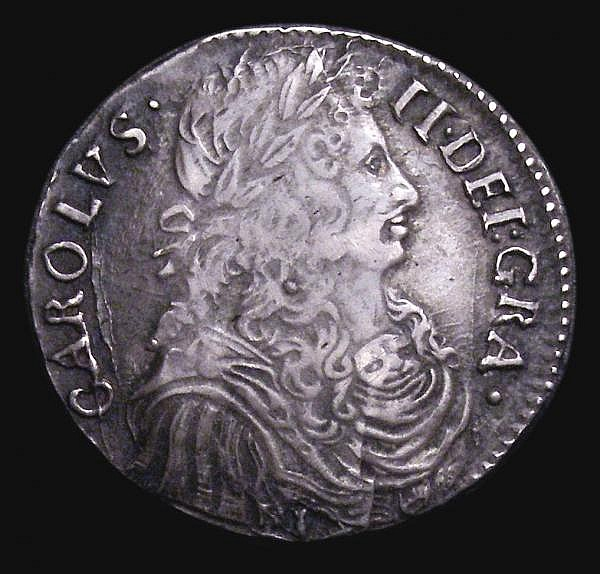 Scotland Merk 1673 S.5611 VF with old grey tone, the reverse with some adjustment lines, very little actual wear, probably close to 'as made', comes with old collector's ticket. Many dies of this are residing in the National Museum of Antiquities in