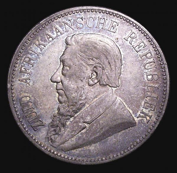 South Africa Crown 1892 Single Shaft KM#8.1 VF with an attractive colourful tone