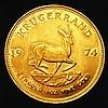 South Africa Krugerrand 1974 toned GEF
