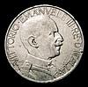Italy 2 Lire 1927R KM#63 GF/NVF with some rim nicks, Rare