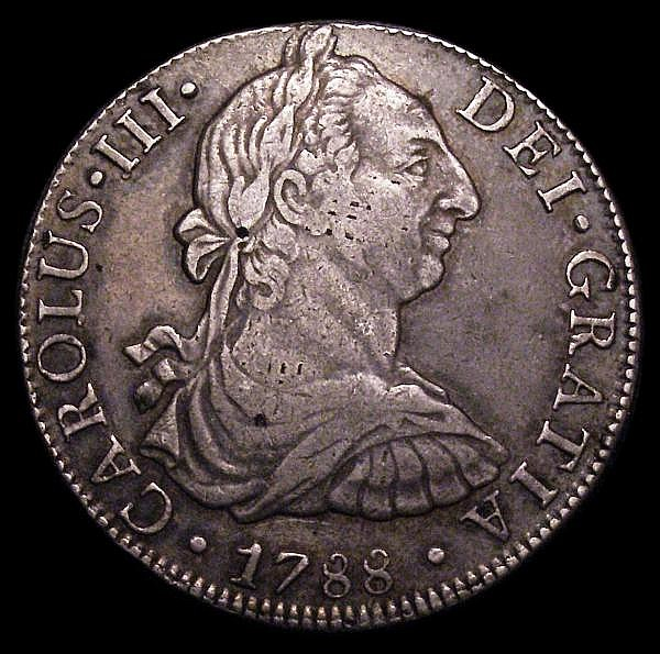 Mexico 8 Reales 1788 Mo FM KM#107 GF with an attractive even tone