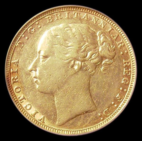 Sovereign 1880 George and the Dragon, No BP, Marsh 91C VF, slabbed and graded LCGS 45