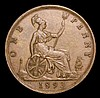 Penny 1893 3 over 2 Gouby BP1893B VF