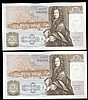 Fifty pounds Gill B356 (2) a consecutively numbered pair series D71 666643 & D71 666644, Pick381b, about UNC to UNC