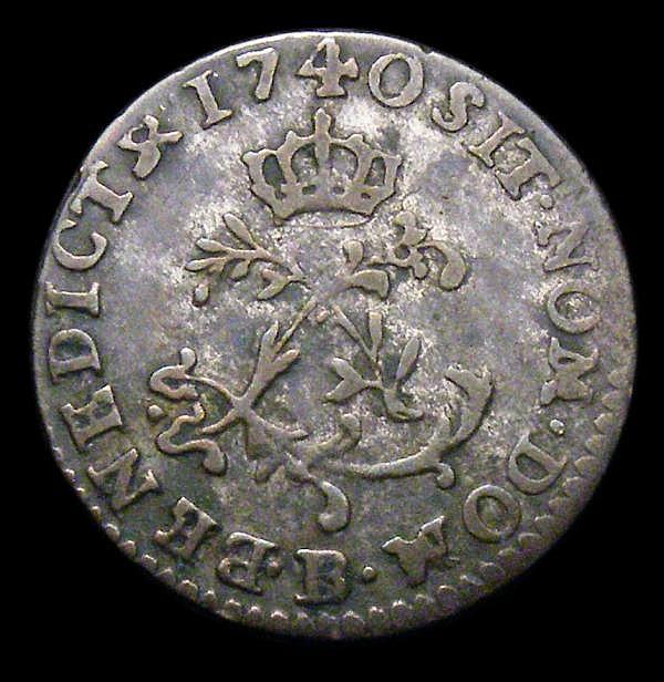 USA/France Half Sou Marques 1740B Breen 666 Fine,  Very Rare