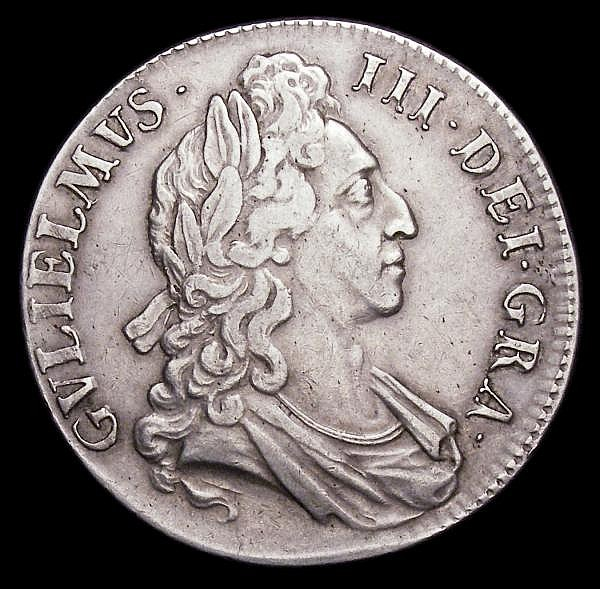 Crown 1695 OCTAVO ESC 87 Good Fine with a slight flattening to the rim below the bust