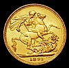 Sovereign 1891S Horse with longer tail S.3868C, VF with some contact marks
