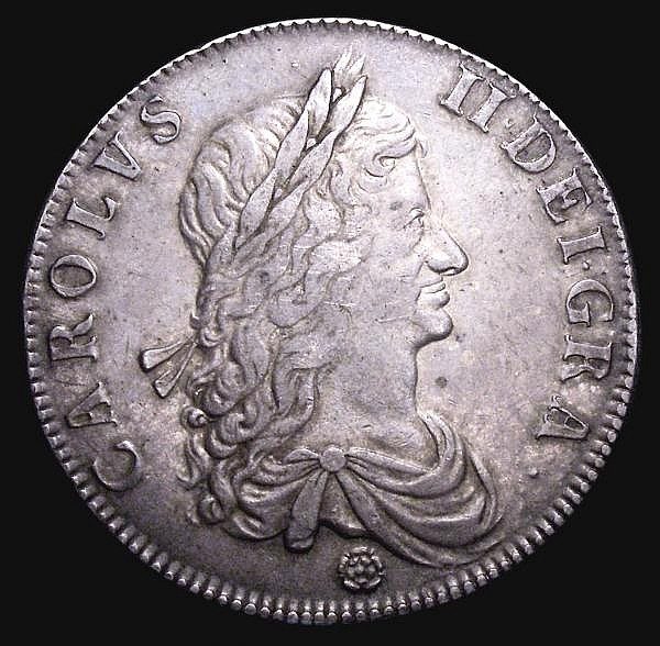 Crown 1662 Rose below Bust, edge undated ESC 15 About VF the reverse with some scratches in the third angle