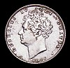 Sixpence 1826 Lion on Crown as ESC 1662, the date figures and GEORGIUS double struck About VF