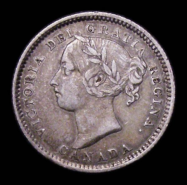 Canada 10 Cents 1886 Large pointed 6 in date (see illustrations in Charlton) Good Fine, Rare