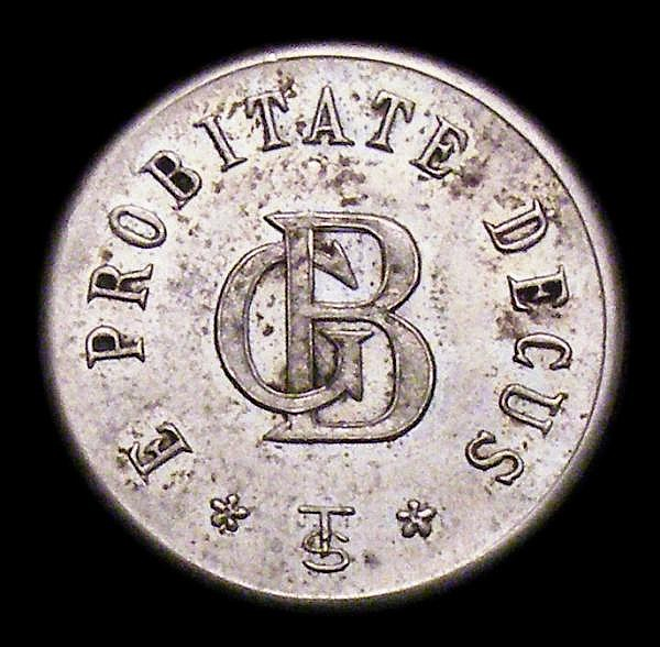 Danish West Indies 3 Cents Token undated (1888-1892) G.Beretta, St. Thomas, Sieg-1, Carlsen-3, Higgie-400, EF and lustrous, these token issues were used for small change for transactions involving Mexican Pesos, in wide circulation at the time, and