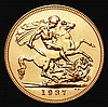 Sovereign 1937 Proof S.4076 nFDC retaining almost full mint brilliance