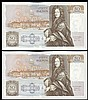 Fifty pounds Gill B356 (2) a consecutively numbered pair series D71 666657 & D71 666658, Pick381b, about UNC to UNC