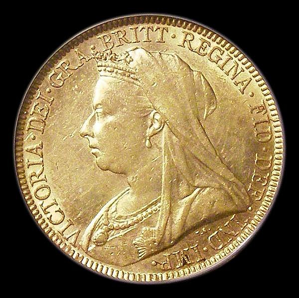 Sovereign 1893M Veiled Head, Marsh 153, GVF, slabbed and graded LCGS 55
