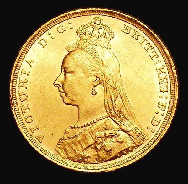Sovereign 1893S Jubilee Head S.3868C UNC or near so and lustrous with a few small rim nicks