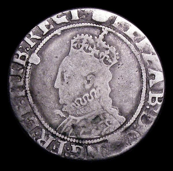 Shilling Elizabeth I Sixth Issue S.2577 mintmark Tun VG or better