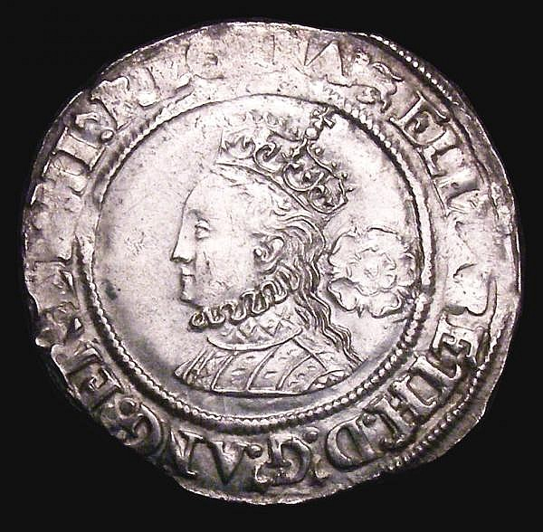 Sixpence Elizabeth I 1567 S.2562 mintmark Lion, we note all other examples except one that we have handled of this date have been mintmark Coronet, VF or better, and superior to the example sold in Auction A153 (that example was Ex-Lingford and