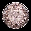 Sixpence 1874 Crosslet 4 in date, Davies 1082 dies 3C, Die Number 18 UNC with green and gold tone, a choice piece with much eye appeal