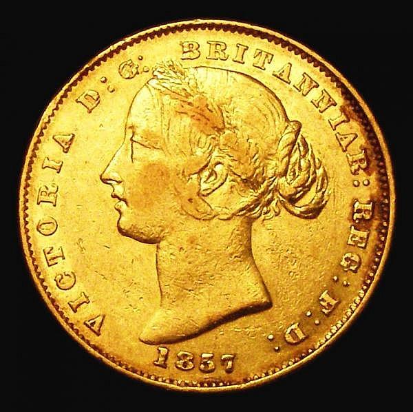 Australia Sovereign 1857 Sydney Branch Mint Marsh 362 Good Fine