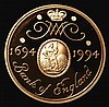 Two Pounds 1994 Bank of England Tercentenary formerly S.4314 Gold Proof the rare mule with the obverse from S.4251 without 'Two Pounds' below the bust, now strangely omitted from the Spink catalogue, FDC cased as issued with certificate, extremely
