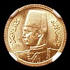 Egypt 20 Piastres Gold AH1357 (1938) KM#370 NGC MS64