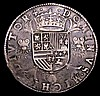 Flanders Thaler 1557 Philip II Good Fine/Fine with a excellent portrait, the fields with some scratches under old grey tone