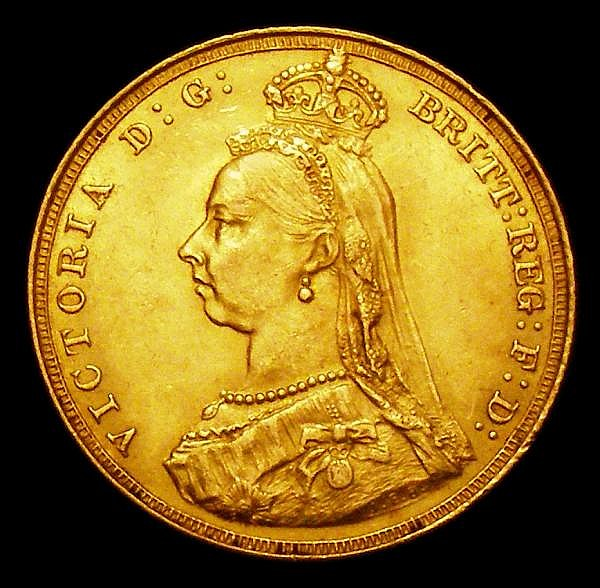 Sovereign 1887 Jubilee Head First Obverse S.3866 NEF
