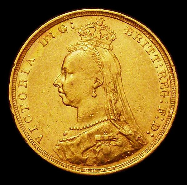 Sovereign 1890S G: of D: G: now closer to crown S.3868B GF