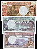 New Hebrides (3) issued 1977-80, 100 francs Pick18d signature 3, 500 francs Pick19c signature 3A and 1000 francs Pick20c signature 3A, usual ripples, UNC