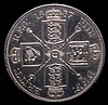 Double Florin 1887 Arabic 1 Davies 540a Obverse 1, Cross on crown points to a space, Reverse B, the Arabic 1 reverse paired with the obverse die usually found on the Roman 1 coins, GEF slabbed and graded CGS 70, the second finest of three examples