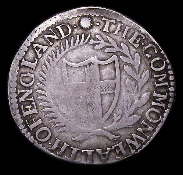 Shilling Commonwealth 1653 ESC 876 Fine with a slight weakness in a couple of places