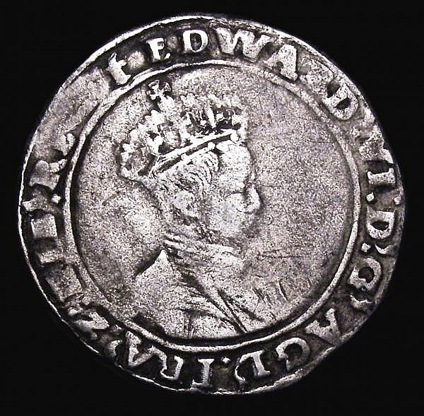 Shilling Edward VI Base silver issue 1549, Canterbury mint, 4.85 grammes, S.2468, mintmark t, Fine, scarce