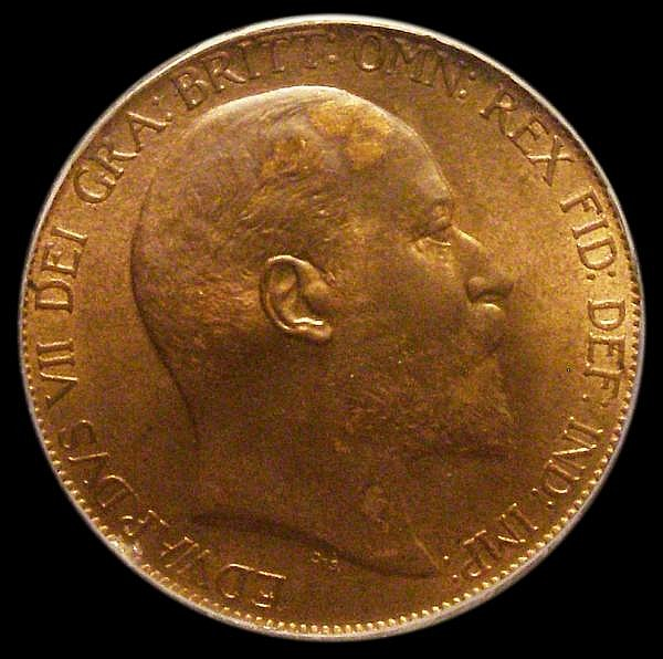 Penny 1902 High Tide Freeman 157 dies 1+B, Choice UNC, slabbed and graded LCGS 85, the third finest known of 63 examples thus far recorded by the LCGS Population Report, Ex-Dr.A.Findlow Hall of Fame Pennies