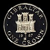 Gibraltar Crown 1967 Silver Frosted Proof NGC PF65 Ultra Cameo. Although not stated on the holder, these were purchased at the time from the official agents. Their surfaces are undoubtedly superior, only 50 pieces issued