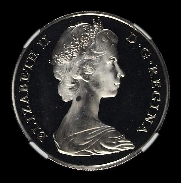 Gibraltar Crown 1967 Silver Frosted Proof NGC PF66 Ultra Cameo. Although not stated on the holder, these were purchased at the time from the official agents. Their surfaces are undoubtedly superior, only 50 pieces issued