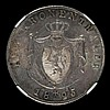 German States Hesse-Darmstadt Thaler 1825 HR KM292 choice Unc and graded MS64 by NGC