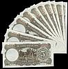 China Central Bank of China 5 Yuan 1936 issue (10 all consecutives) V715012 to 715021 UNC
