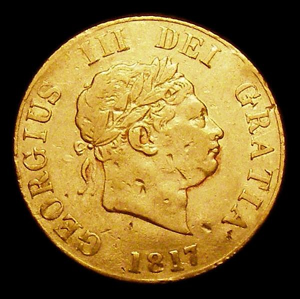 Half Sovereign 1817 Marsh 400 Fine with some heavier surface marks