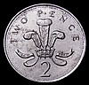 Mint Error - Mis-Strike Decimal Two Pence 2000 an off-metal strike weighs 6.75 grammes rather than 7.1 grammes for the standard coin About EF with some spots on the reverse