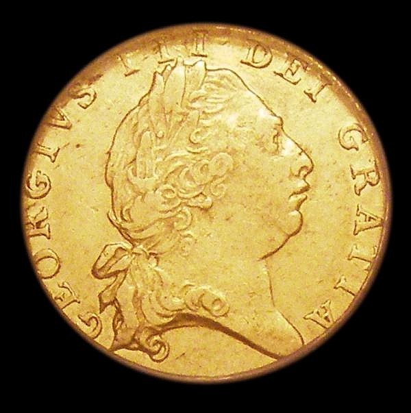 Half Guinea 1802 S.3736 VF, slabbed and graded VF 40