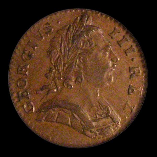 Farthing 1774 Obverse 1 Peck 915 EF and attractively toned, slabbed and graded LCGS 60