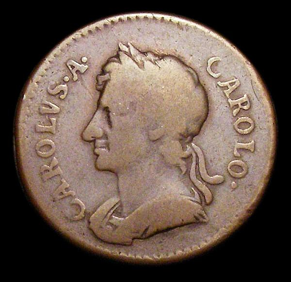 Farthing 1671 Copper Proof, Portrait with short hair, Obverse 1b Reverse A Peck 438 VG a clear and collectable example