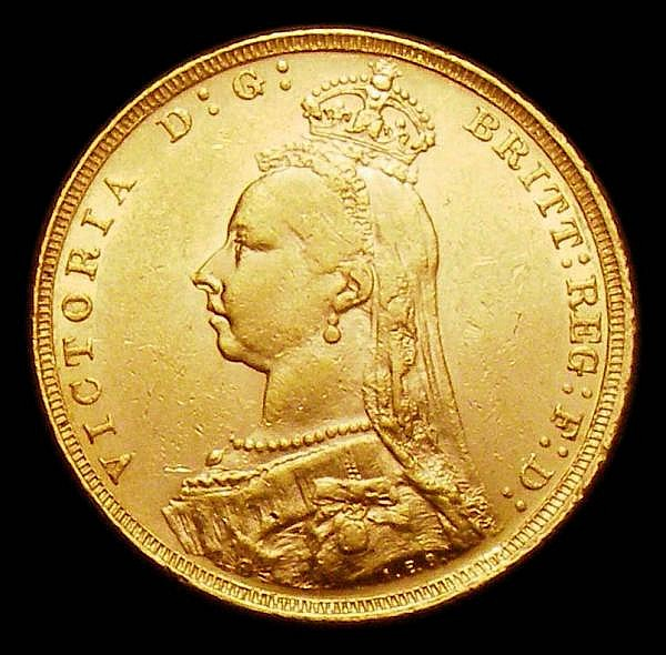 Sovereign 1889 G of D:G: now closer to crown S.3866B GVF/NEF