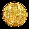 Sovereign 1872 Shield Reverse Marsh 59, Die Number 90 EF and lustrous with some contact marks