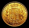 Sovereign 1872 Shield Reverse Marsh 56 Die Number 98 GEF slabbed and graded LCGS 70