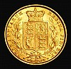 Sovereign 1872 Shield Reverse Marsh 56 Die Number 81, the 1 of the die number very thick, being as wide as the 8, NEF/EF