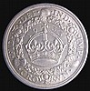 Crown 1933 ESC 373 A/UNC the obverse lustrous, slabbed and graded CGS 75